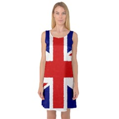 Union Jack Watercolor Drawing Art Sleeveless Satin Nightdress by picsaspassion