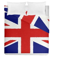 Union Jack Watercolor Drawing Art Duvet Cover Double Side (queen Size) by picsaspassion