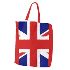 Union Jack Watercolor Drawing Art Giant Grocery Zipper Tote by picsaspassion
