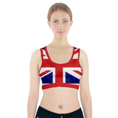Union Jack Watercolor Drawing Art Sports Bra With Pocket by picsaspassion