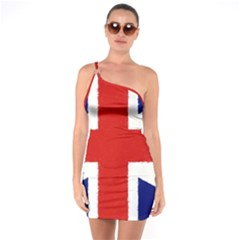 Union Jack Watercolor Drawing Art One Soulder Bodycon Dress by picsaspassion