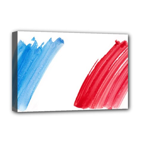 France Flag, Banner Watercolor Painting Art Deluxe Canvas 18  X 12   by picsaspassion