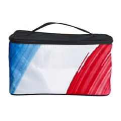 France Flag, Banner Watercolor Painting Art Cosmetic Storage Case by picsaspassion