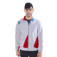France Flag, Banner Watercolor Painting Art Wind Breaker (men) by picsaspassion
