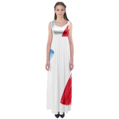France Flag, Banner Watercolor Painting Art Empire Waist Maxi Dress by picsaspassion