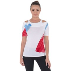 France Flag, Banner Watercolor Painting Art Short Sleeve Top by picsaspassion