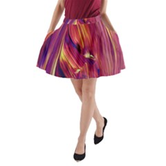 Abstract Acryl Art A Line Pocket Skirt by tarastyle