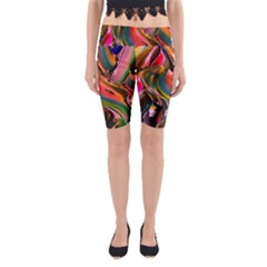 Abstract Acryl Art Yoga Cropped Leggings by tarastyle