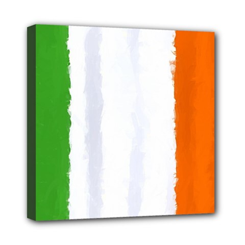 Flag Ireland, Banner Watercolor Painting Art Mini Canvas 8  X 8  by picsaspassion