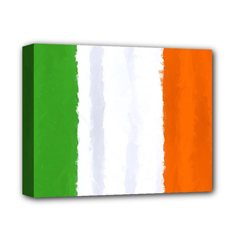 Flag Ireland, Banner Watercolor Painting Art Deluxe Canvas 14  X 11