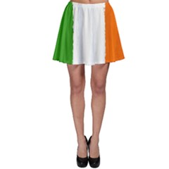 Flag Ireland, Banner Watercolor Painting Art Skater Skirt
