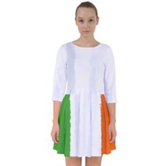 Flag Ireland, Banner Watercolor Painting Art Smock Dress by picsaspassion