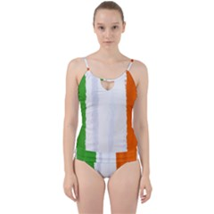 Flag Ireland, Banner Watercolor Painting Art Cut Out Top Tankini Set