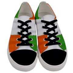 Flag Ireland, Banner Watercolor Painting Art Men s Low Top Canvas Sneakers