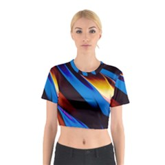 Abstract Acryl Art Cotton Crop Top by tarastyle