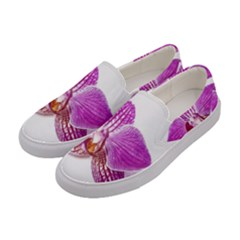 Lilac Phalaenopsis Aquarel  Watercolor Art Painting Women s Canvas Slip Ons by picsaspassion