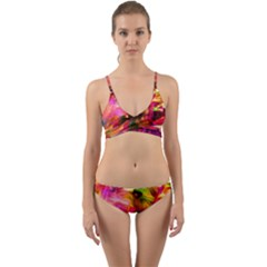 Abstract Acryl Art Wrap Around Bikini Set by tarastyle