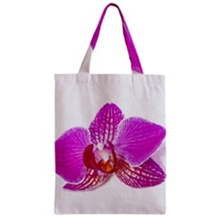 Lilac Phalaenopsis Flower, Floral Oil Painting Art Zipper Classic Tote Bag