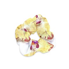 Yellow Phalaenopsis Flower, Floral Aquarel Watercolor Painting Art Velvet Scrunchie by picsaspassion