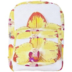 Phalaenopsis Yellow Flower, Floral Oil Painting Art Full Print Backpack by picsaspassion