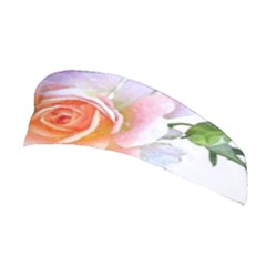 Pink Rose Flower, Floral Watercolor Aquarel Painting Art Stretchable Headband by picsaspassion