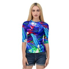 Abstract Acryl Art Quarter Sleeve Raglan Tee by tarastyle