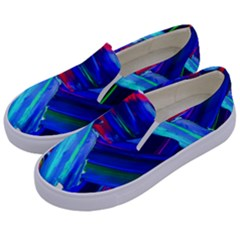 Abstract Acryl Art Kids  Canvas Slip Ons by tarastyle