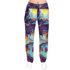 Abstract Acryl Art Drawstring Pants by tarastyle