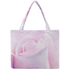 Rose Pink Flower, Floral Aquarel   Watercolor Painting Art Mini Tote Bag by picsaspassion