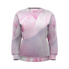 Rose Pink Flower, Floral Aquarel   Watercolor Painting Art Women s Sweatshirt by picsaspassion