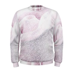 Rose Pink Flower  Floral Pencil Drawing Art Men s Sweatshirt by picsaspassion