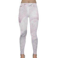 Rose Pink Flower  Floral Pencil Drawing Art Classic Yoga Leggings by picsaspassion