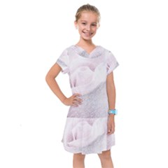 Rose Pink Flower  Floral Pencil Drawing Art Kids  Drop Waist Dress by picsaspassion