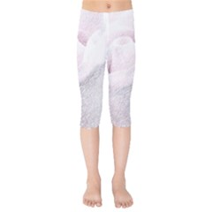 Rose Pink Flower  Floral Pencil Drawing Art Kids  Capri Leggings  by picsaspassion