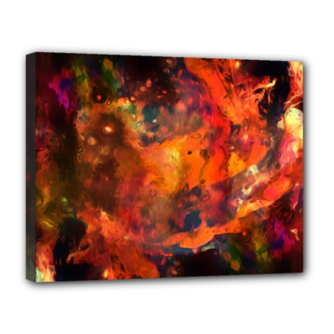 Abstract Acryl Art Canvas 14  X 11  by tarastyle