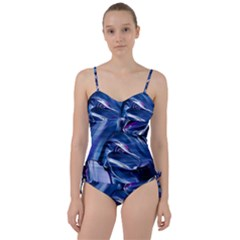 Abstract Acryl Art Sweetheart Tankini Set