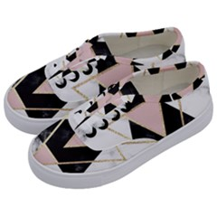 Triangles,gold,black,pink,marbles,collage,modern,trendy,cute,decorative, Kids  Classic Low Top Sneakers by 8fugoso