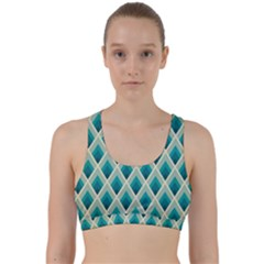 Artdecoteal Back Weave Sports Bra by 8fugoso