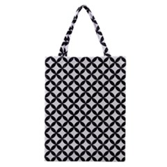 Circles3 Black Marble & White Linen Classic Tote Bag by trendistuff