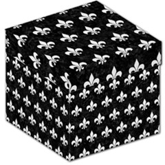 Royal1 Black Marble & White Linen Storage Stool 12   by trendistuff