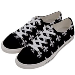 ROYAL1 BLACK MARBLE & WHITE LINEN Women s Low Top Canvas Sneakers