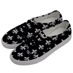 ROYAL1 BLACK MARBLE & WHITE LINEN Men s Classic Low Top Sneakers