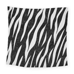 Skin3 Black Marble & White Linen (r) Square Tapestry (large) by trendistuff