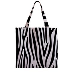 Skin4 Black Marble & White Linen (r) Zipper Grocery Tote Bag by trendistuff