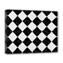 SQUARE2 BLACK MARBLE & WHITE LINEN Deluxe Canvas 20  x 16   View1