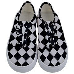 Square2 Black Marble & White Linen Kids  Classic Low Top Sneakers
