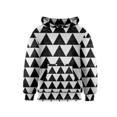 TRIANGLE2 BLACK MARBLE & WHITE LINEN Kids  Pullover Hoodie