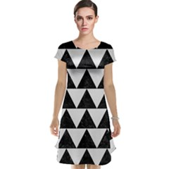 TRIANGLE2 BLACK MARBLE & WHITE LINEN Cap Sleeve Nightdress