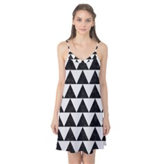 TRIANGLE2 BLACK MARBLE & WHITE LINEN Camis Nightgown