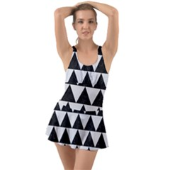 TRIANGLE2 BLACK MARBLE & WHITE LINEN Swimsuit